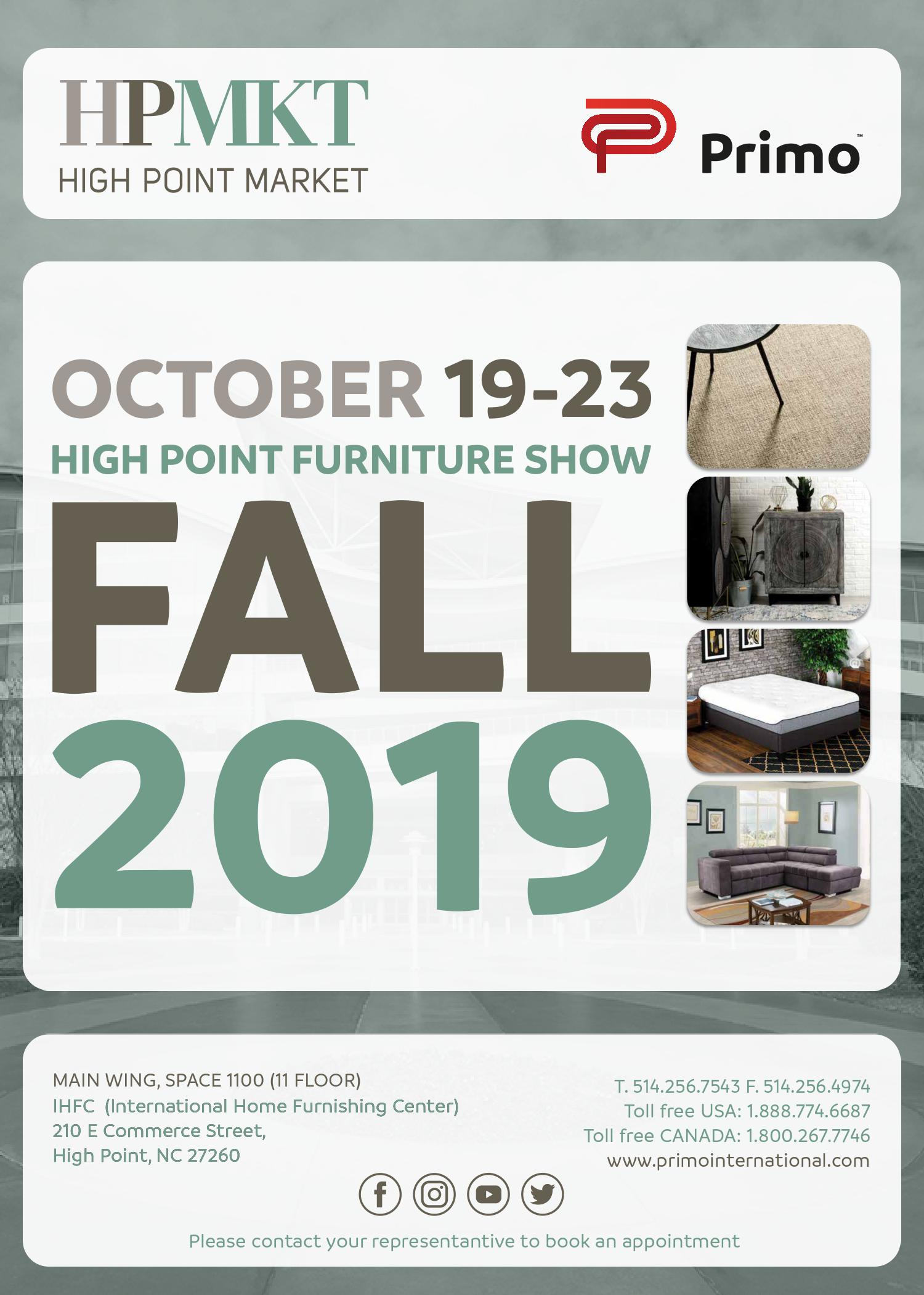 High Point Furniture Show, Fall 2019